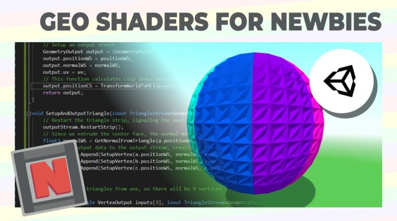 Geometry Shaders Made Easy If You've Only Written Shader Graphs! Unity URP | Game Dev Tutorial