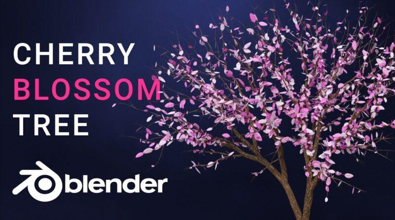 Blender Tutorial - Create a Cherry Blossom Tree in Blender 2.83