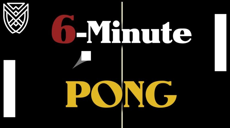 Making PONG in 6 Minutes Unity Tutorial