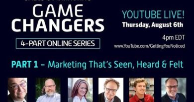 Sales and Marketing Game Changers - Part 1 Marketing That's Seen, Heard, and Felt Aug 6 2020