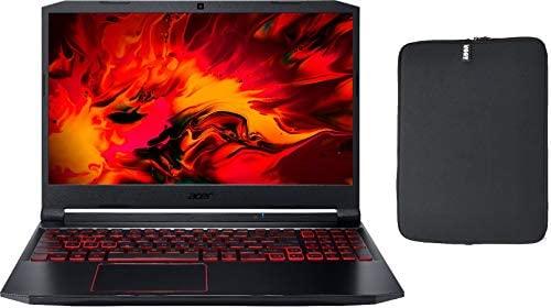 "Acer Nitro 5 15.6"" FHD IPS Gaming Laptop w/ Woov Sleeve, Intel Quad-Core i5-10300H, 12GB RAM, 256GB PCIe SSD, NVIDIA GeForce GTX 1650 4GB, Backlit Keyboard, Windows 10 Home"