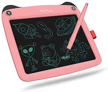 """LCD Writing Tablet, Doodle Board 9'' Electronic Writing & Drawing Board, Kids Gift for Girls/Boys, Handwriting Paper Drawing Tablet Home & School Use (9""""(9 inch), Pink)"""