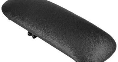 Artificial Leather Center Console Armrest Lid Cover Pad for BMW Mini Cooper Center Console Armrest Lid - Black