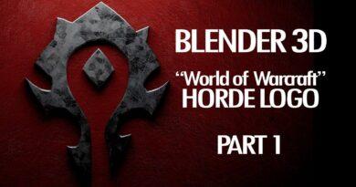Blender 3D Horde Logo World of Warcraft Tutorial Part 1