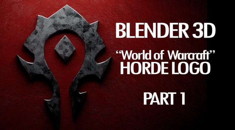 Blender 3D Horde Logo World of Warcraft Tutorial Part 1