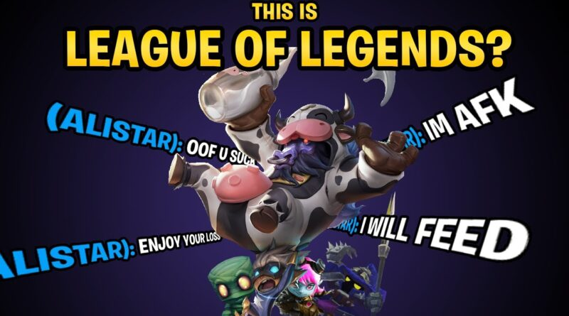 League of Legends -  A Game Where One Player Can Ruin the Experience For Everybody Else