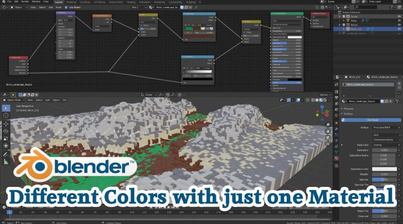 Blender Tutorial Part 4 - Different Colors with just one Material
