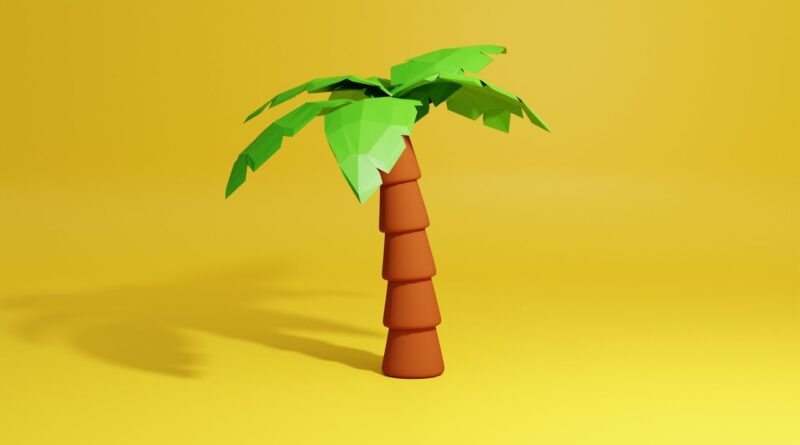 Modeling a palm tree - Blender Tutorial