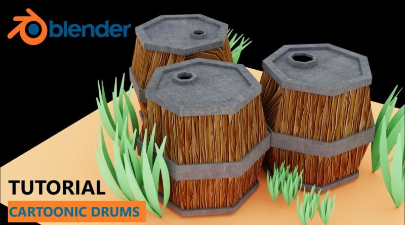 Cartoonic drums blender tutorial - blender 2.8