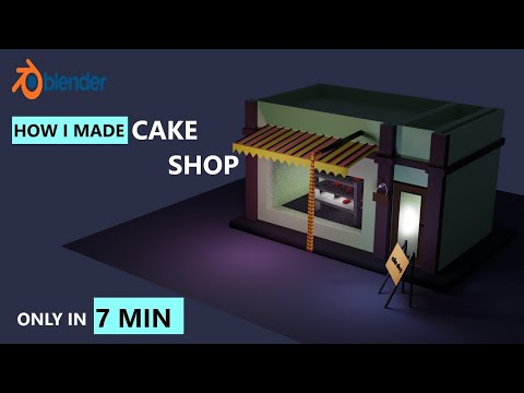 Cake shop blender tutorial - blender -3d modeling