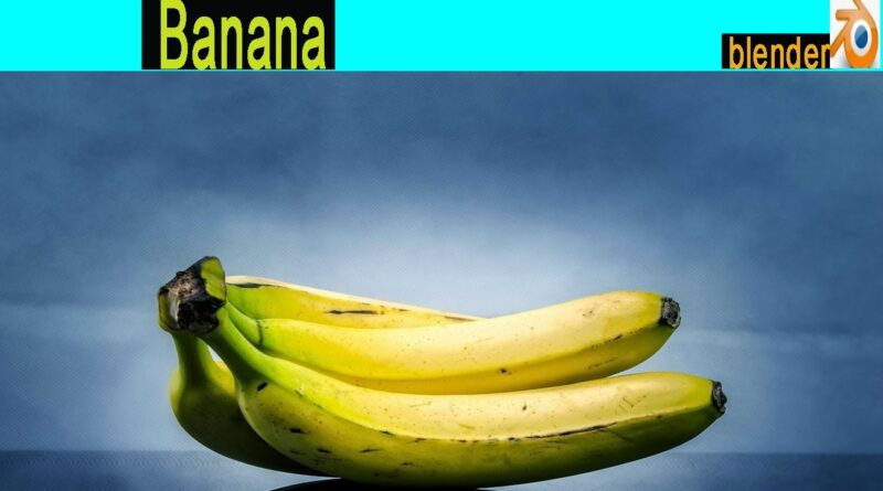 Banana in Blender Tutorial -  How To Make a banana in blender tutorial