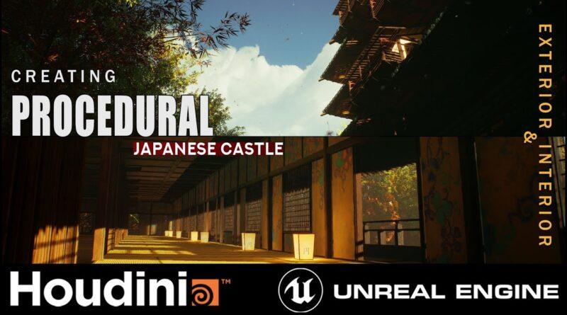 Houdini Tutorial Procedural Japanese Castle in Unreal Engine 4