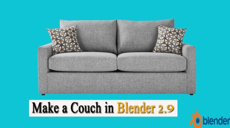 Blender 3D - How To Make Sofa in Blender 2.9 tutorial
