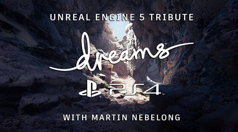 Unreal Engine Tribute made in Dreams on my Playstation 4 in two hours