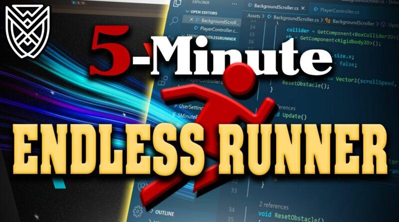 5 Minute ENDLESS RUNNER Game UNITY Tutorial
