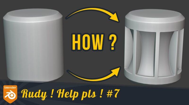 Help me pls : become a boolean thinker - Blender tutorial
