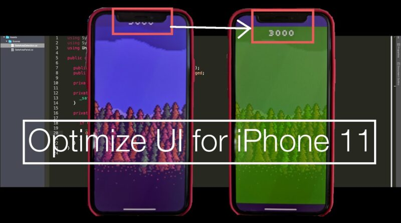 Optimize UI for the new iPhone | Unity Tutorial
