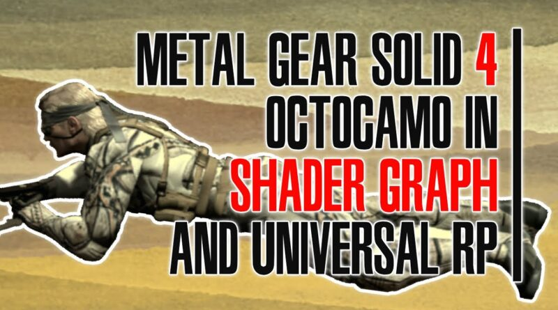 MGS4 Octocamo, Terrains and Shader Graph Scripting (URP)