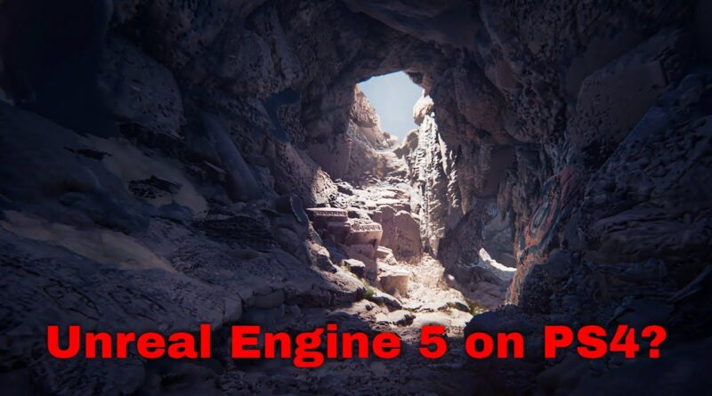 Unreal engine 5 in Dreams on PS4? Challenge accepted!