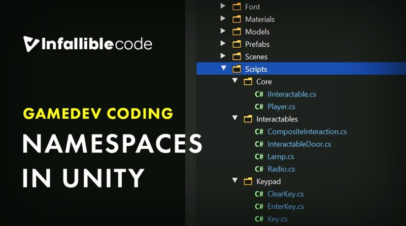 Namespaces in Unity
