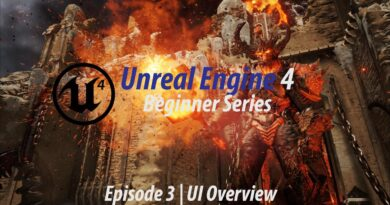 User Interface Overview Part 1 - #3 Unreal Engine 4 Beginner Tutorial Series