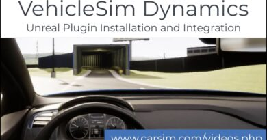 Mechanical Simulation's VehicleSim Dynamics Plugin for Unreal Engine Installation and Integration