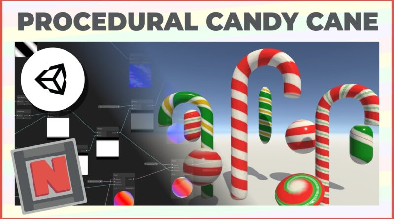 Candy Cane Procedural Material in Unity URP! Only uses Shader Graph! | Game Dev Tutorial