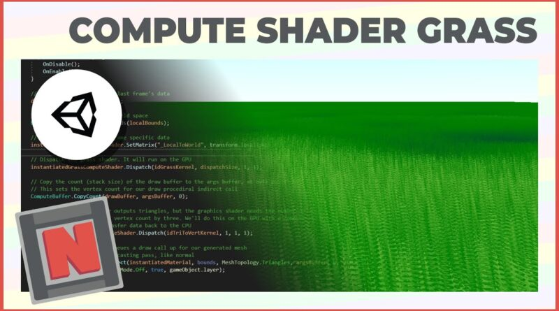 Endless Fields of Grass in URP with a Compute Shader! | Game Dev Tutorial