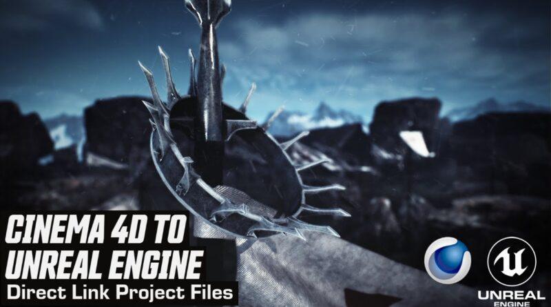 "Direct link Reimport Cinema 4d scenes in Unreal Engine "" Almost live link! """