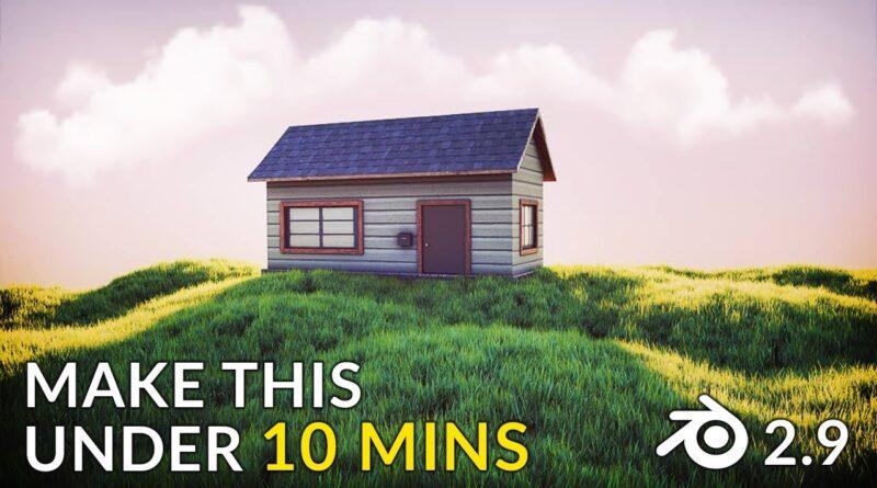 Create a Grassy Meadow Scene in 10 Minutes (Blender 2.9 Tutorial)
