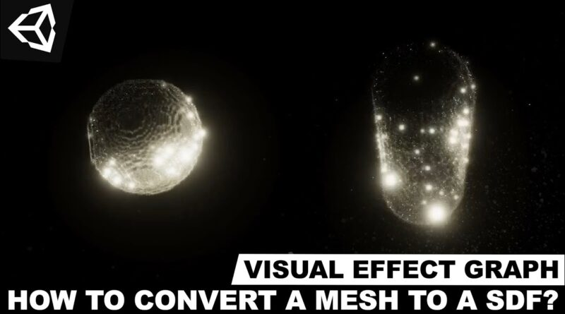 Unity3d VFX Graph - How To Convert A Mesh To A Sign Distance Field (SDF) ?