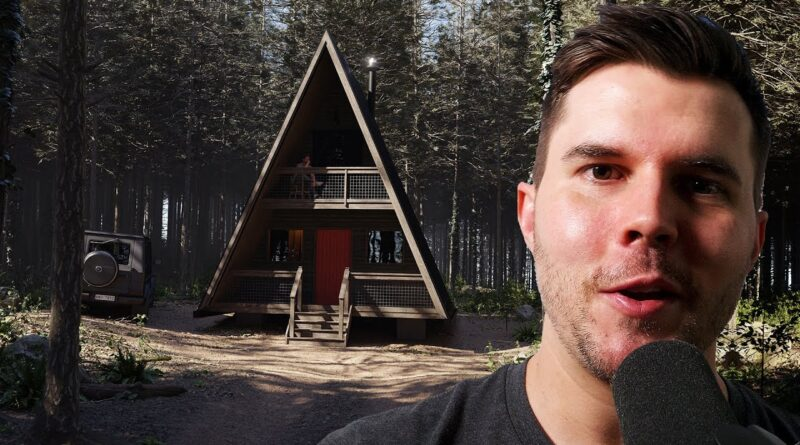 Making a Cabin in the Woods in 15 mins using Blender