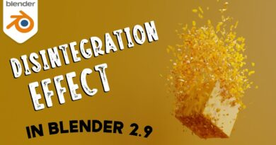 How to Create a Disintegration Effect in Blender 2.9 - Cloth Sim Tutorial