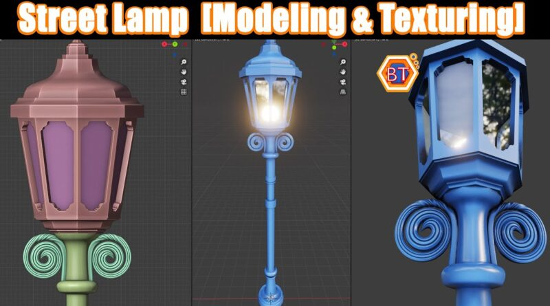 How to Create a Street Light in Blender 2.91