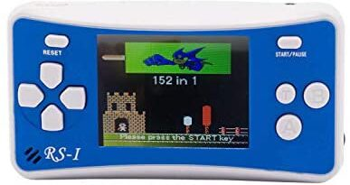 """OctiveMe RS-1 Portable Video Game Player for Children Retro Handheld Game Console 2.5"""" LCD,Built-in 152 Classic Games Entertainment Best Gift for Kids (Blue)"""