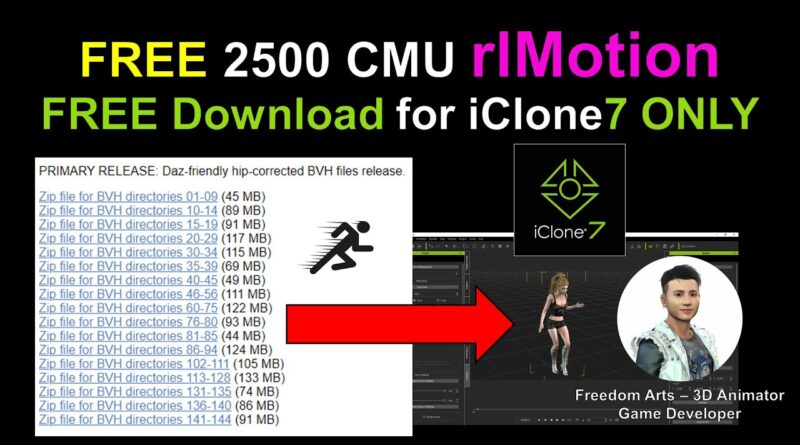 CMU mocap full pack 2500 rlMotion for iClone 7