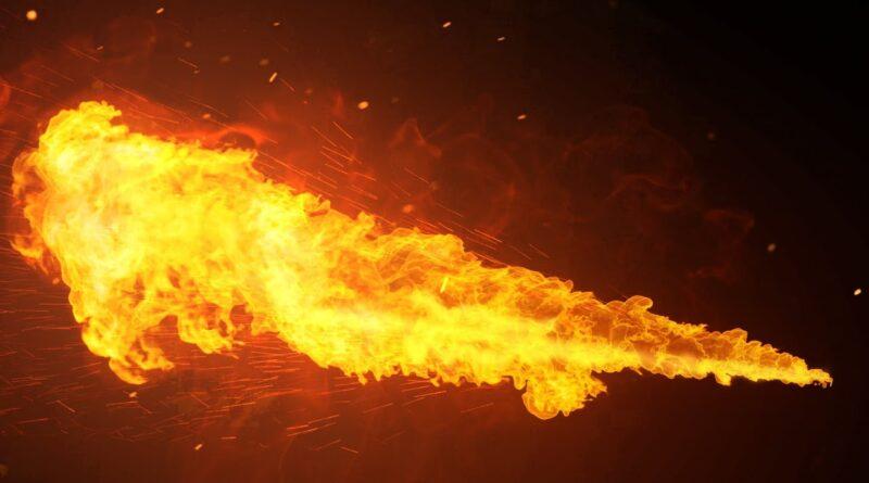 Make a Realistic Flamethrower in Blender - Iridesium