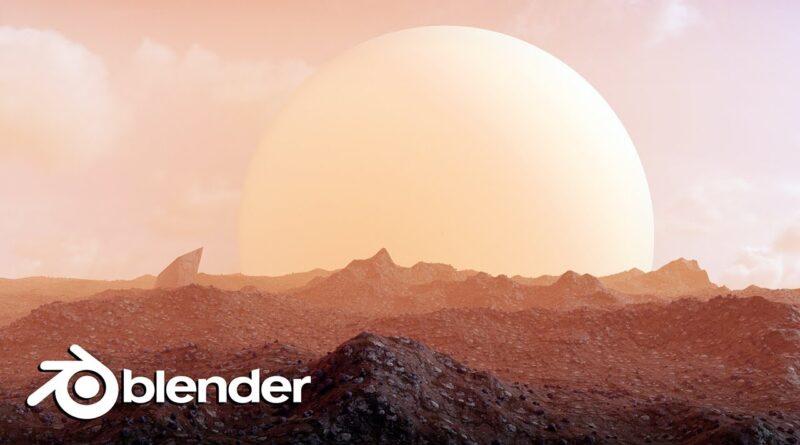 Create an Alien Planet Landscape in Blender 2.8 (Beginner Tutorial)