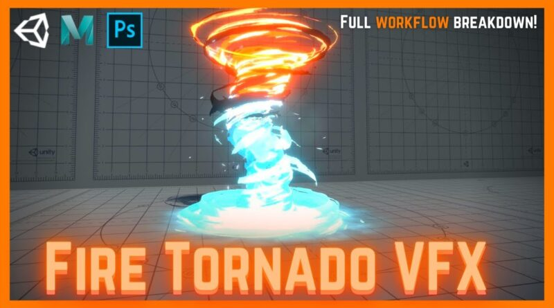 Unity VFX  Amplify Shader Editor - Magic Fire and Ice Tornado Tutorial
