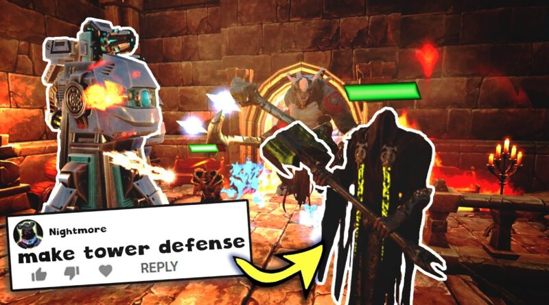 I Made a Tower Defense Game in Unreal Engine 4