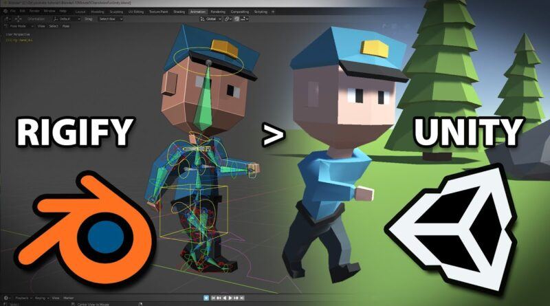 Blender 2.82 - Rigify to Unity Tutorial - How to Export a Rigify Character and Import it into Unity