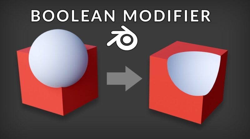 Blender Tutorial - Boolean Modifier (3D Modeling Essentials)