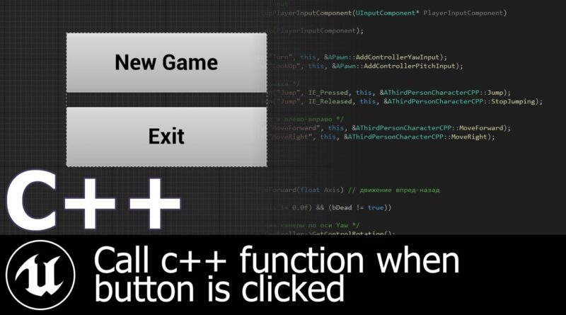 How to create widget via c++ | Game development | Unreal Engine 4 tutorial
