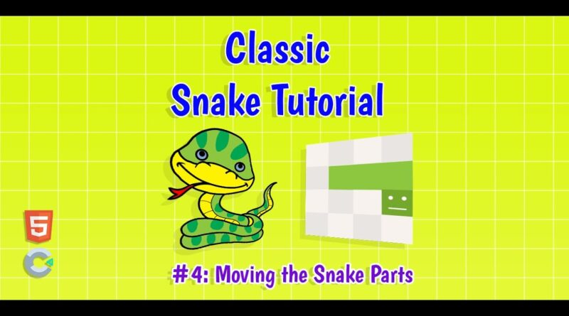 Construct 3: (#4) Moving the Snake Parts | HTML5 Game Tutorial