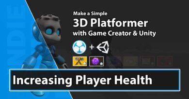 Unity Game Creator Tutorial - Increasing Player Health - 37