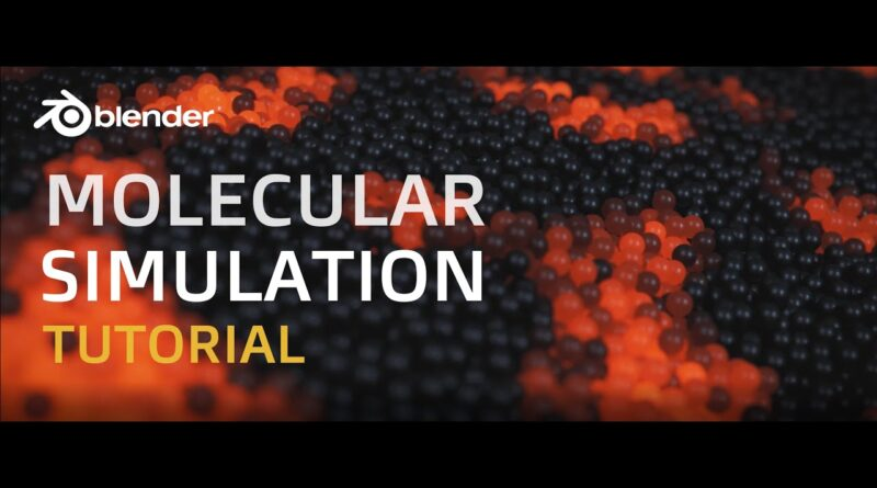 How to Create Molecular Simulations in Blender - Tutorial