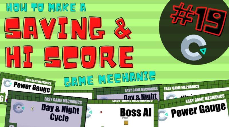 Construct3: Saving & High Score, Easy Game Mechanics 19