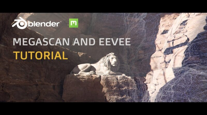 Using Megascan and Eevee to Create a Realtime Scene - Blender Tutorial (subscription use only)