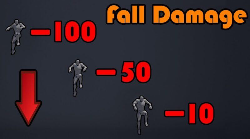 Fall Damage - Unreal Engine 4 Tutorial