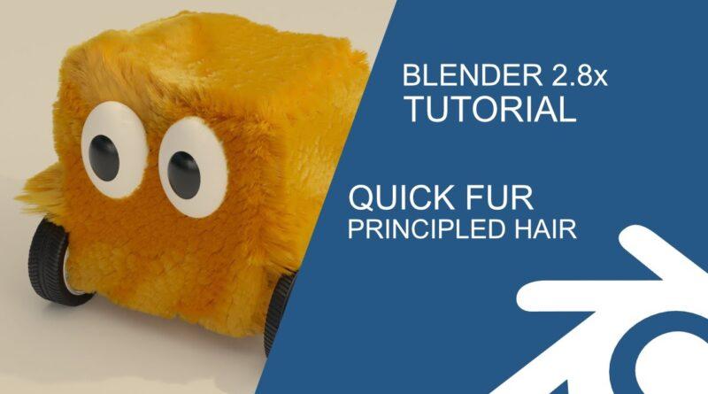 Blender Tutorial: Quick Fur & Principled hair shader